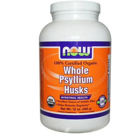 - Now Foods - Whole Psyllium Husks Intestinal Health 100% Certified Organic - 12 oz., Pack of 2