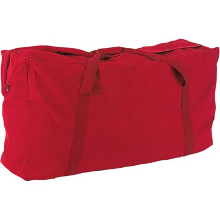 0508fa5f9 Champion Sports CB4224RD 22 oz Oversized Canvas Zippered Duffle Bag, Red -  image 1 of ...