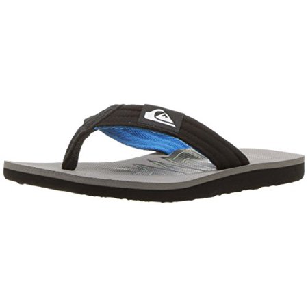 Quiksilver Youth Molokai Layback Sandal (Little Big Kid), Black/Blue/Grey, 3(18) M US Infant - Izzy Costume