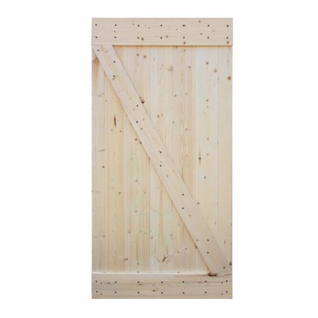 Knotty Alder Wood Doors (CALHOME 42 in. x 84 in. Unfinished Z-Bar 100% Knotty Pine Interior Barn Door)