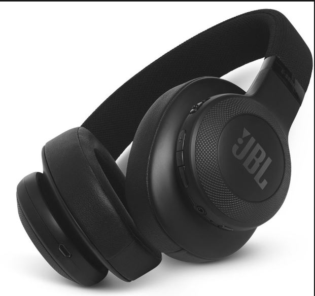 JBL E55BT On-Ear Wireless Headphones (Black)