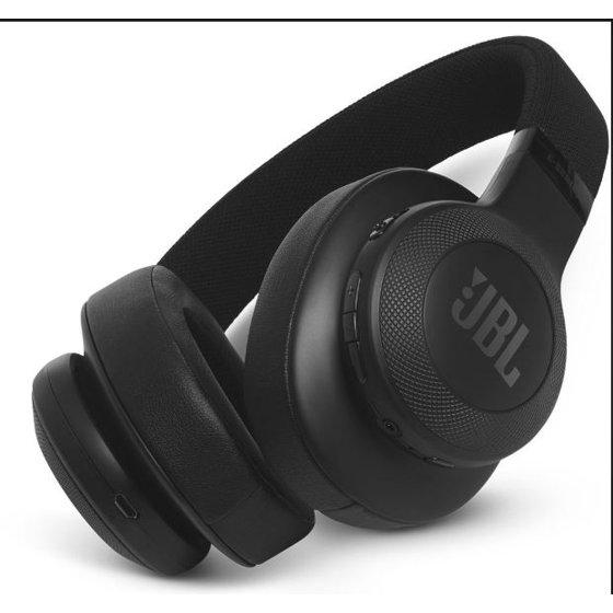 4c4377e2302 JBL E55BT On-Ear Wireless Headphones (Black) - Walmart.com