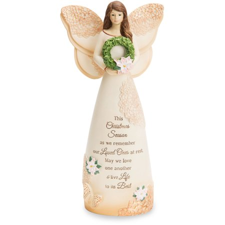 Pavilion - This Christmas Season as we Remember our Love Ones at Rest, May we Love One Another & Life Life to its Best 7.5 Angel Figurine ()