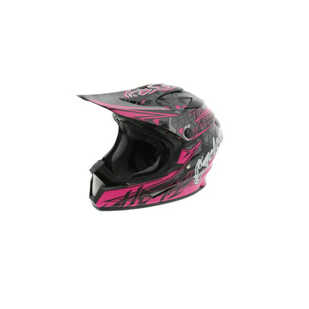Cyclone ATV MX Motocross Dirt Bike Off-Road Helmet DOT/ECE Approved- Pink