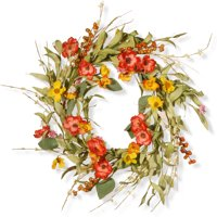 """National Tree Artificial 22"""" Spring Flower Wreath"""