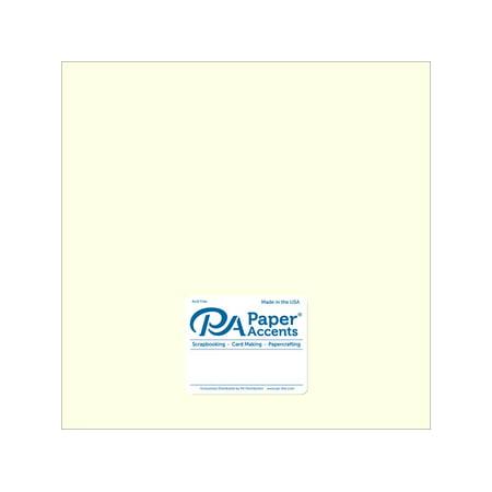 Paper Pearlized 12x12 65# Cream 5pc