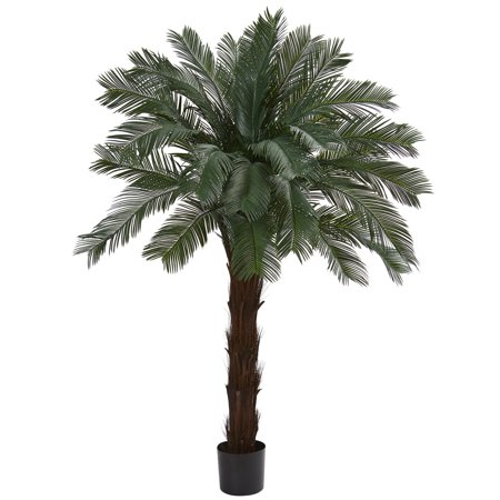 Nearly Natural 6 ft. Cycas Artificial Tree, UV Resistant (Indoor/Outdoor) ()