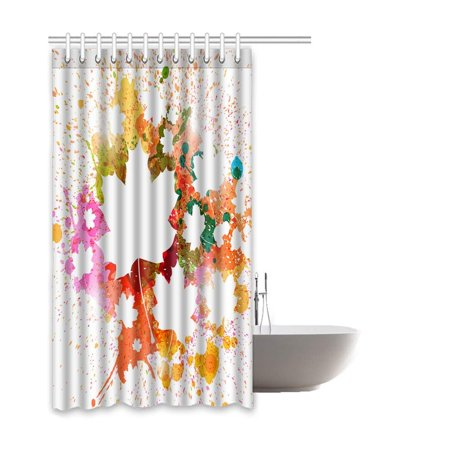 BSDHOME Ink Waterproof Polyester Bathroom Shower Curtain 66x72 Inches - image 2 of 2