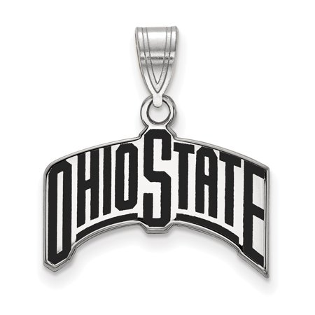 White Sterling Silver Charm Pendant Ohio NCAA State University 21 mm 19 State University Sports Charms