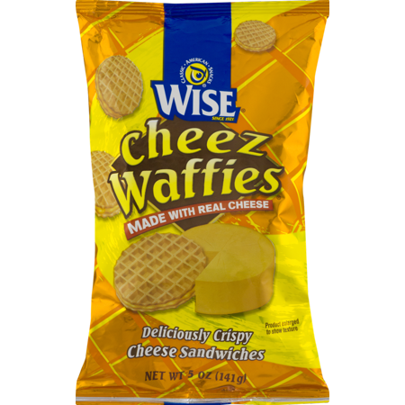 Wise Foods Cheez Waffies Crispy Cheese Sandwiches 5 Oz Bag 4 Bags