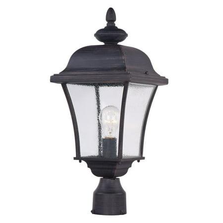 Outdoor Post Light Bulb Fixture 1 Light Bulb Fixture With Rust Patina Finish Die Cast Aluminum Material Medium Bulbs 9 inch 100 Watts