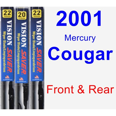 2001 Mercury Cougar Wiper Blade Set/Kit (Front & Rear) (3 Blades) - Vision Saver
