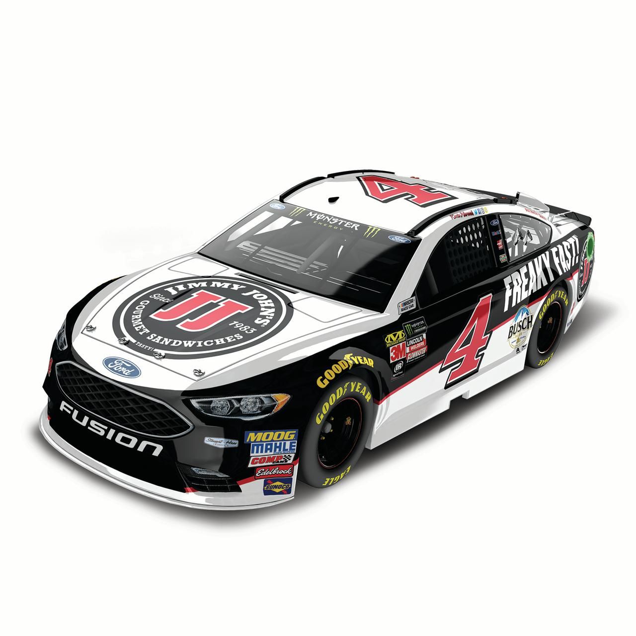 Lionel Racing Kevin Harvick #4 Jimmy John's 2018 Ford Fusion 1:24 Scale HO Die-cast