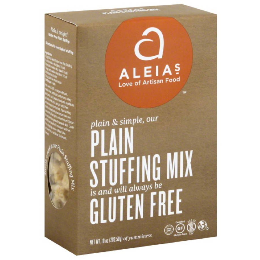 Aleias Gluten Free Plain Stuffing Mix, 10 oz, (Pack of 6)