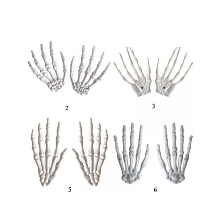Topumt 1Pair Halloween Party Plastic Hands Skeleton Decor For Haunted