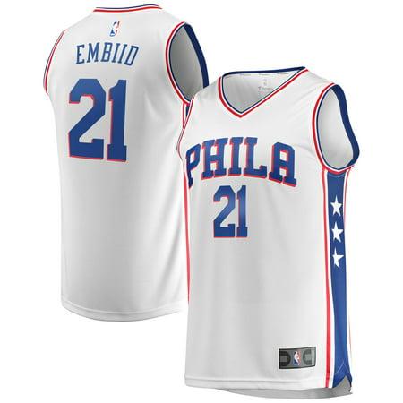 Joel Embiid Philadelphia 76ers Fanatics Branded Youth Fast Break Replica Jersey White - Association Edition