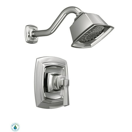 Moen 82835EP Single Handle Posi-Temp Pressure Balanced Shower Trim w/ Shower Head from the Boardwalk Collection (Valve Included)