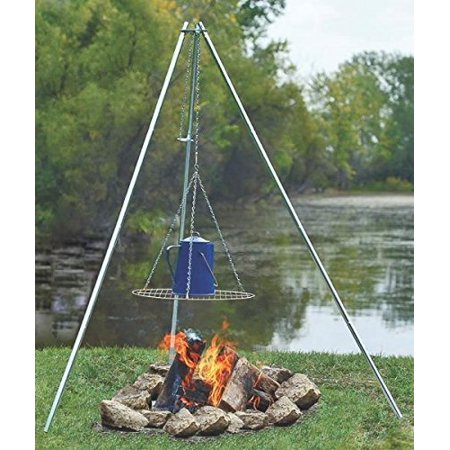 New Coghlan`s 9340 Adjustable Height Galvanized Camp Fire Cooking Tripod 2757870