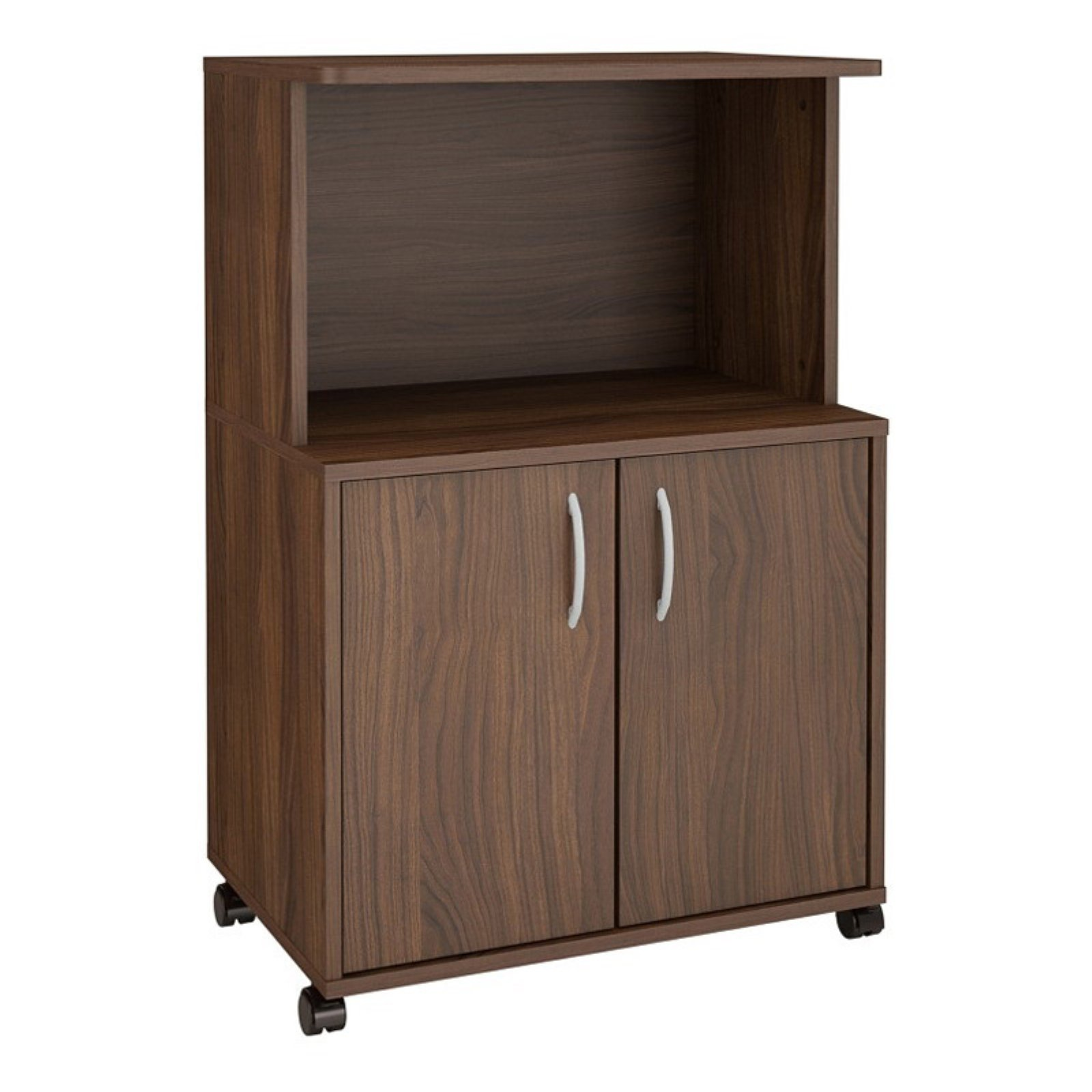 Nexera 2-Door Microwave Cart, Walnut