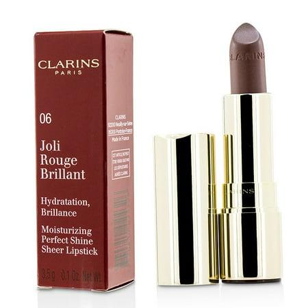 Joli Rouge Brillant (Moisturizing Perfect Shine Sheer Lipstick) - # 06 Fig-3.5g/0.1oz Clarins Le Rouge Lipstick