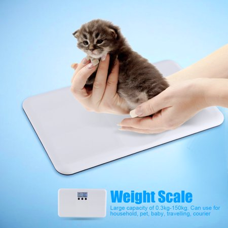Yosoo LCD Digital Scales,LCD Digital Electronic On/Tare Function Low Battery/Lock Alarm Baby Pet Body Weighting Scale,Digital Scale