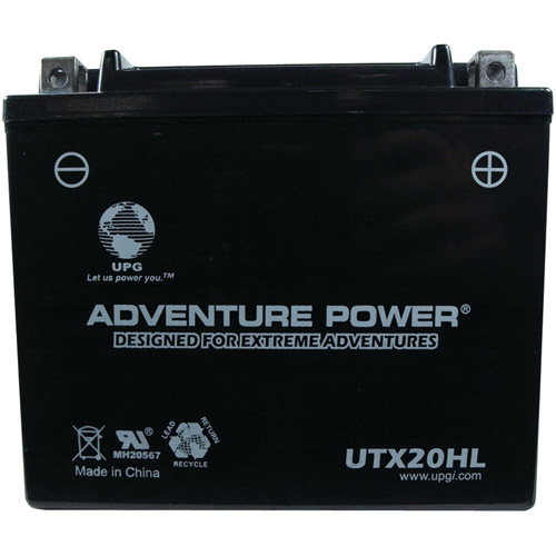 UPG 42052 UTX20HL, Sealed AGM Power Sports Battery