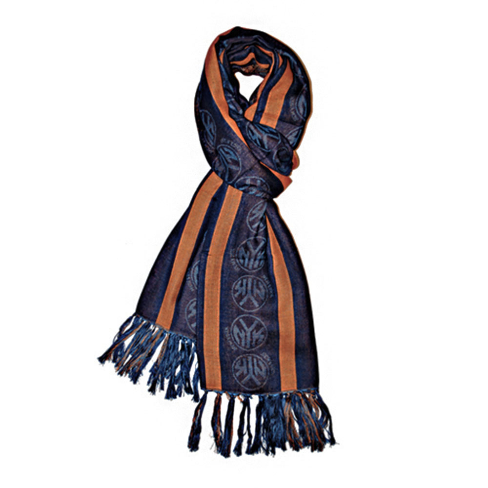 New York Knicks NBA Team Scarf Navy/ Orange