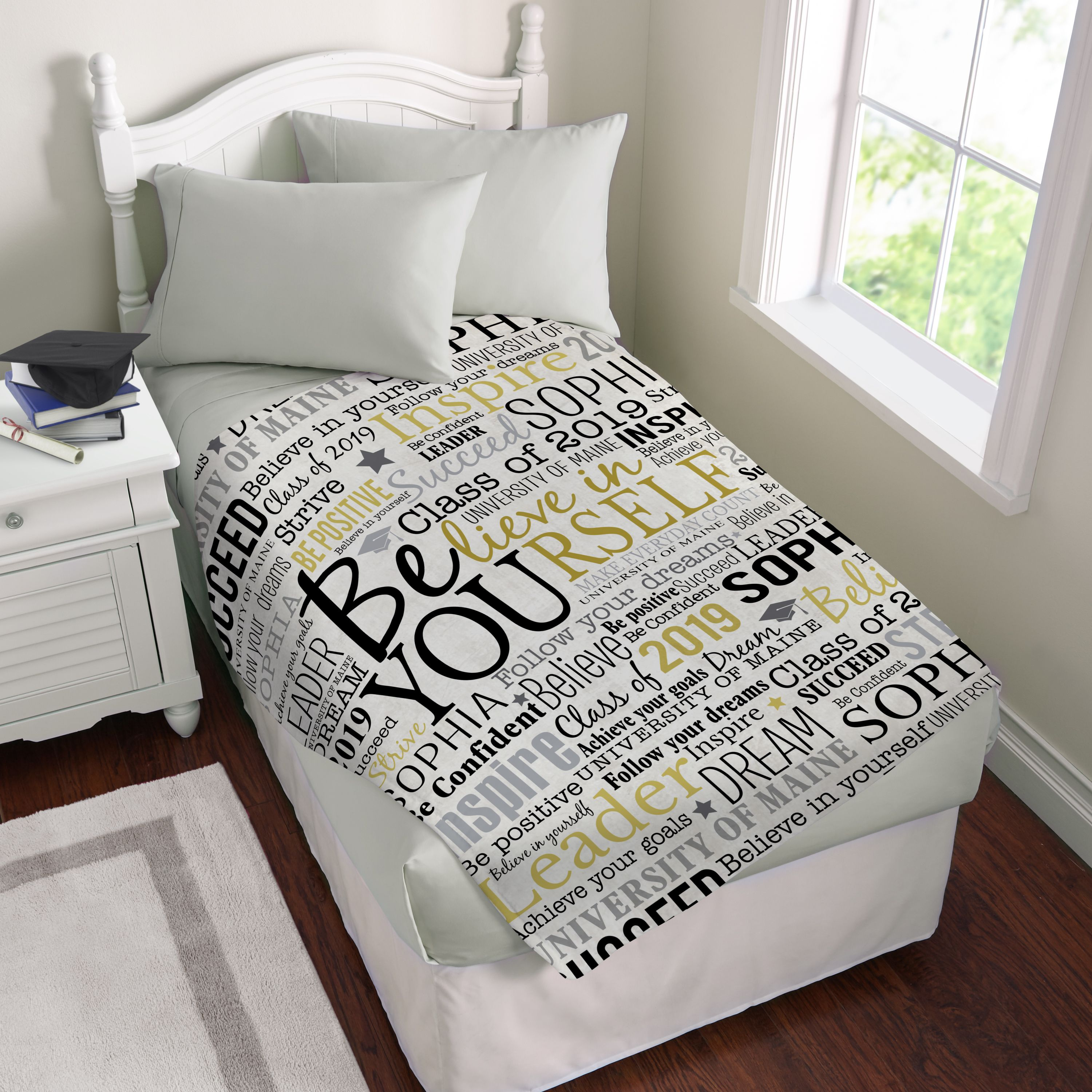 Personalized Believe in Yourself Plush Blanket