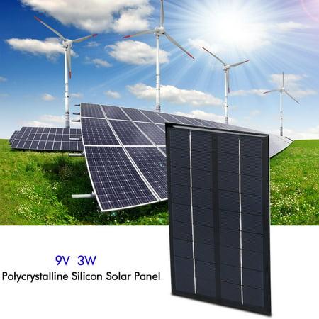 Qiilu 3W 9V Mini Polycrystalline Solar Panel for DIY Solar