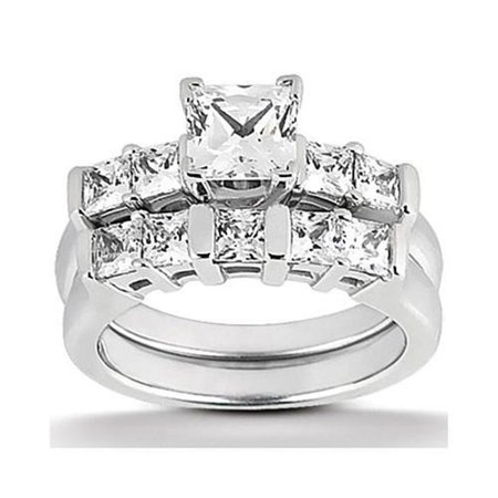 - Harry Chad HC12998 1.51 CT Diamond Princess Cut Solitaire Ring Band White Gold - Color F - VS1 & VVS1 Clarity