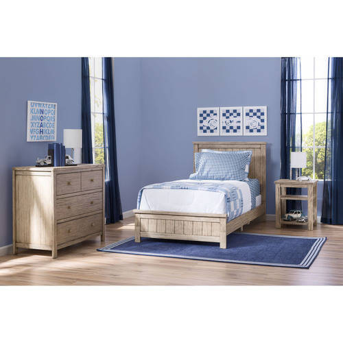 Delta Children Farmhouse 3-Piece Twin Room-In-A-Box, Rustic Gray