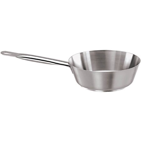 Paderno World Cuisine Slanted Saute Pan, 1.62 Qt, Stainless Steel, 11012-20