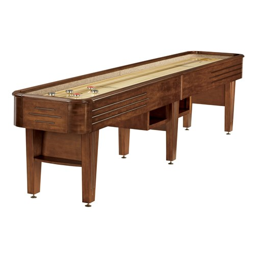 Brunswick Andover II 12-Foot Shuffleboard Table - Chestnut Finish