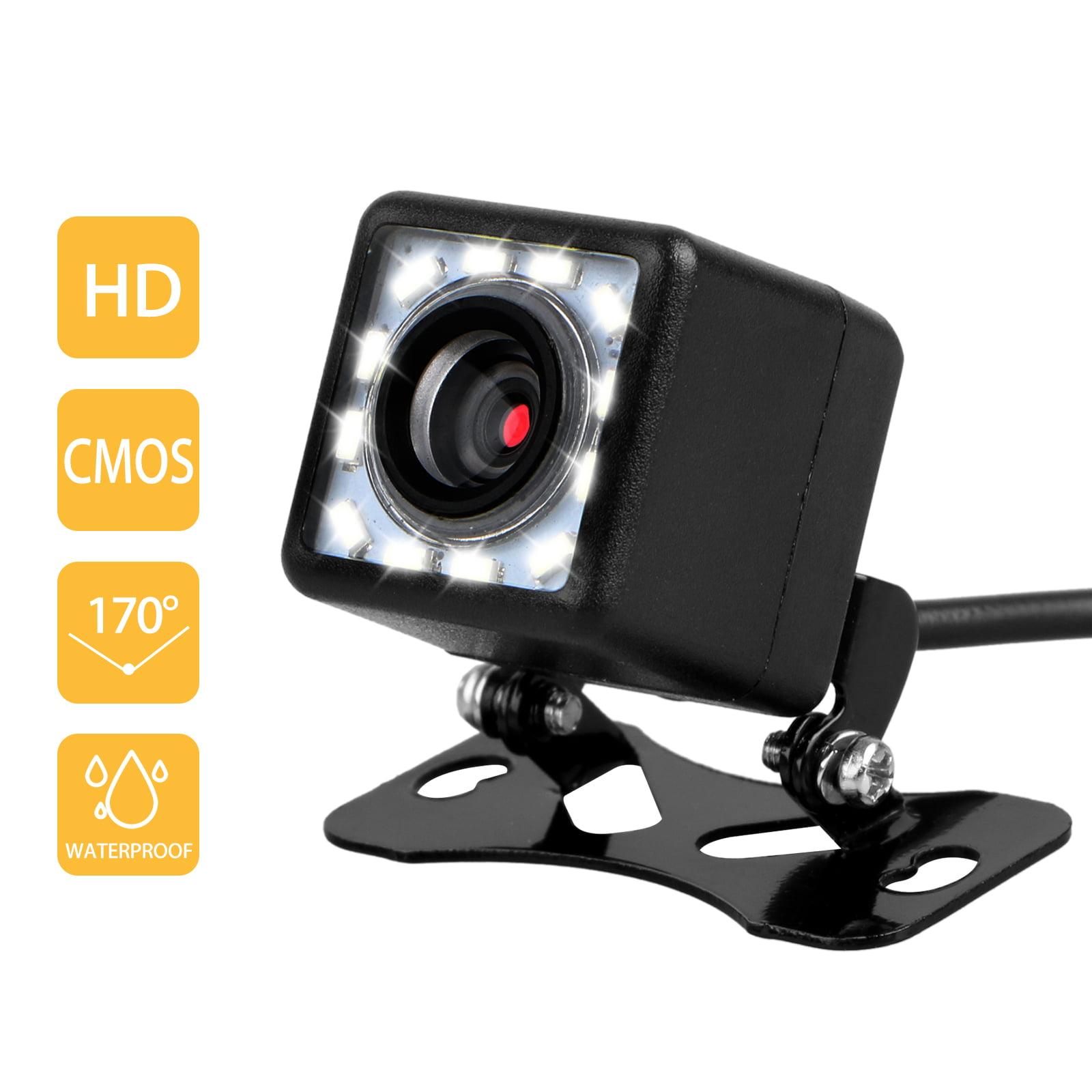 Night Vision Backup Camera, Car Rear View Camera Waterproof High Definition 170 Degree Viewing Angle HD Video Recorder