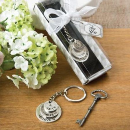 Love   Hope and Faith stacked disc key chain  pack of 100