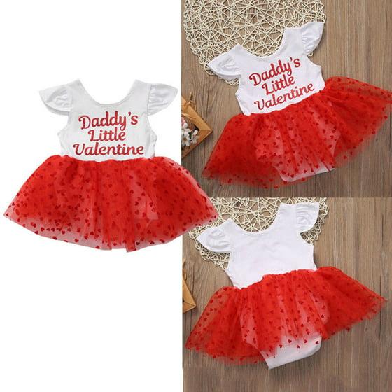 4dae67f01 Gaono - Toddler Baby Girls Short Sleeve Daddy's Little Valentine ...