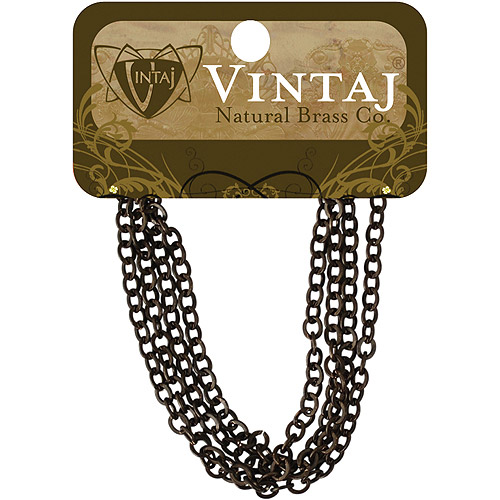 "Vintaj Metal Chain 24"" 1/Pkg-Cable 3.5mmX4mm"