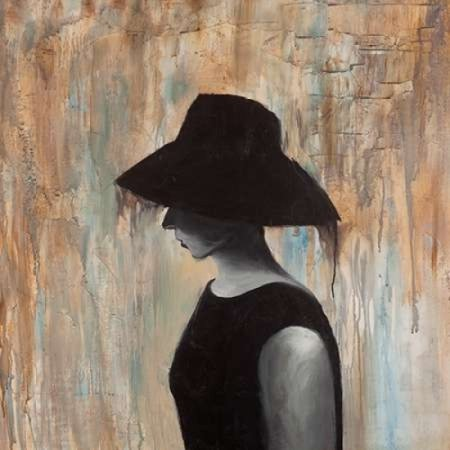 9ce3bd5c06b Audrey Hepburn with a Big Hat Poster Print by Atelier B Art Studio (12 x  12) - Walmart.com