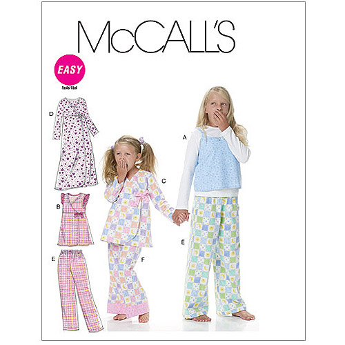 McCall's Pattern Children's and Girls' Tops, Gown and Pants, CCE (3, 4, 5, 6)