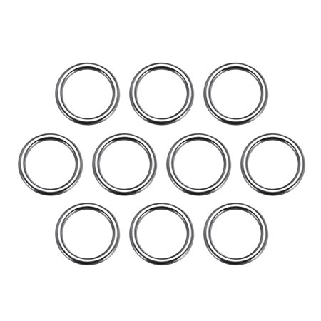 10 Pcs O Ring Buckle 0.8 Inch Metal Circular O-Ring Black for Hardware Bags Belts Craft DIY