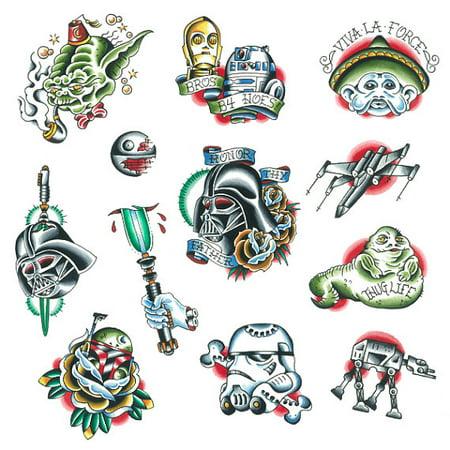 Tattify Traditional Star Wars Temporary Tattoos - Lightspeed (Set of 12) - Walmart.com
