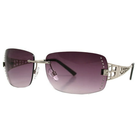 Rimless Glasses With Rhinestones : Rimless with rhinestones sunglass - Walmart.com