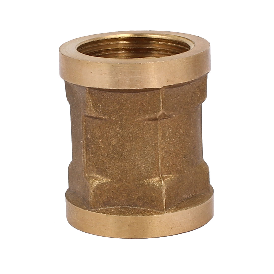 1/2BSP Female Thread Brass Straight Double Pass Connector Pipe Fitting Coupler - image 1 of 3