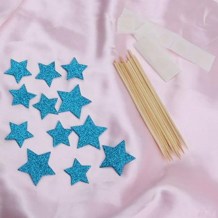 Partie ménage en forme étoile Cupcake bricolage Dentelle cure dents Picks Topper 12 en 1 - image 2 de 3