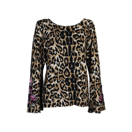 0d15da541b2a1 INC - Inc International Concepts Plus Size Brown Animal-Print Embellished  Sweater 3X - Walmart.com