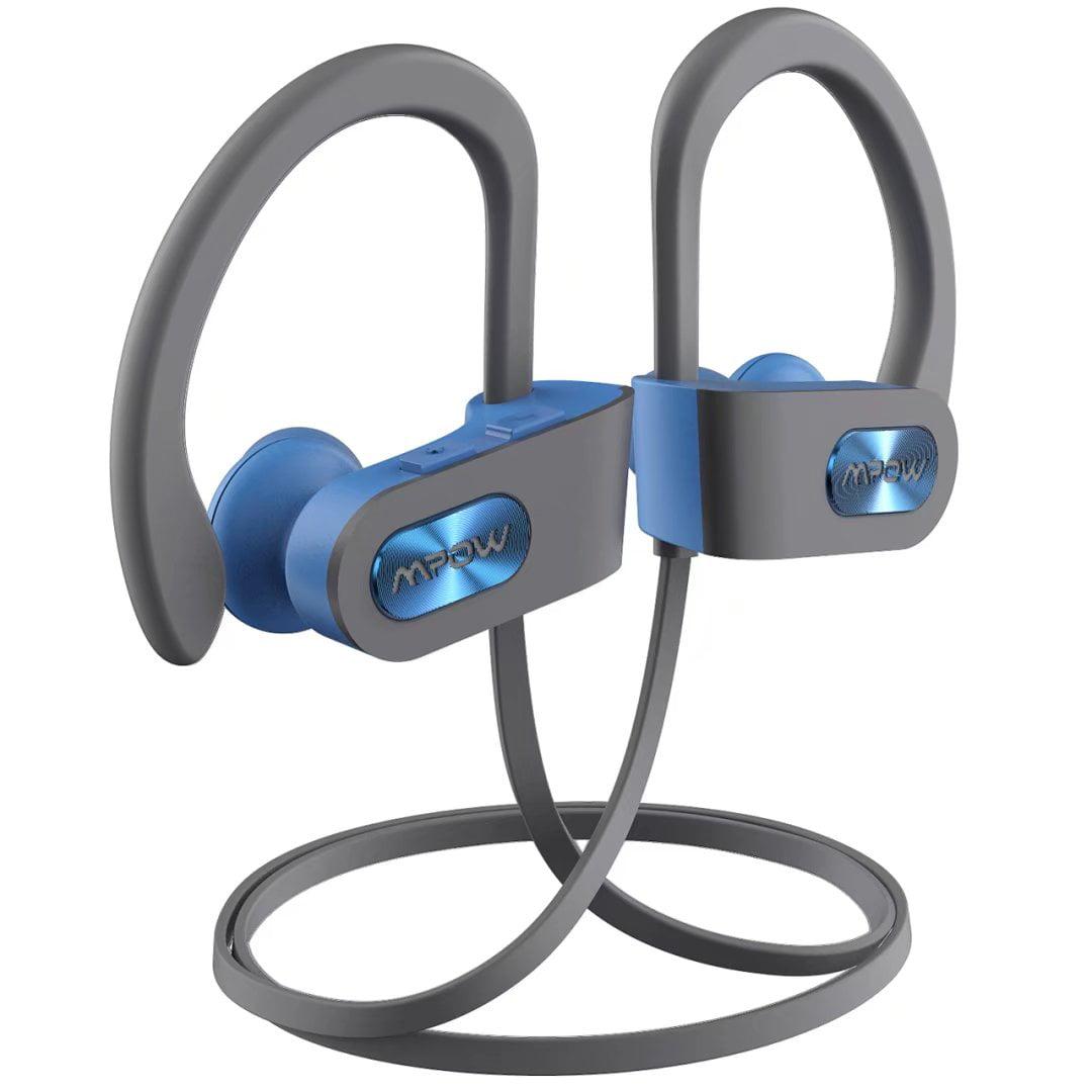 8fd1817ebbd7 Mpow Bluetooth Headphones, IPX7 Waterproof In-ear Earbuds, Wireless Sports  Earphones for Gym Running Cycling Workout (Red Outside & Black Inside)