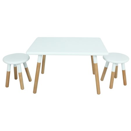 Kids Dipped Table and Stool Set Black - ACEssentials
