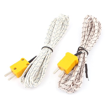K Type Temperature Measuring Thermocouple Probe Wire -50 to +204C 10Ft 2pcs - image 3 of 3