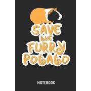 Guinea Pig Save the Furry Potato Notebook : Cute Guinea Pig Lined Journal for Women, Men and Kids. Great Gift Idea for All Cavy Lover Boys and Girls