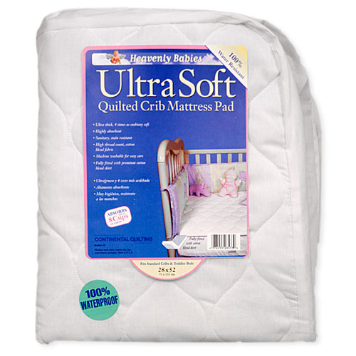KID-DING - Waterproof Ultra-Soft Quilted Crib Mattress Pad